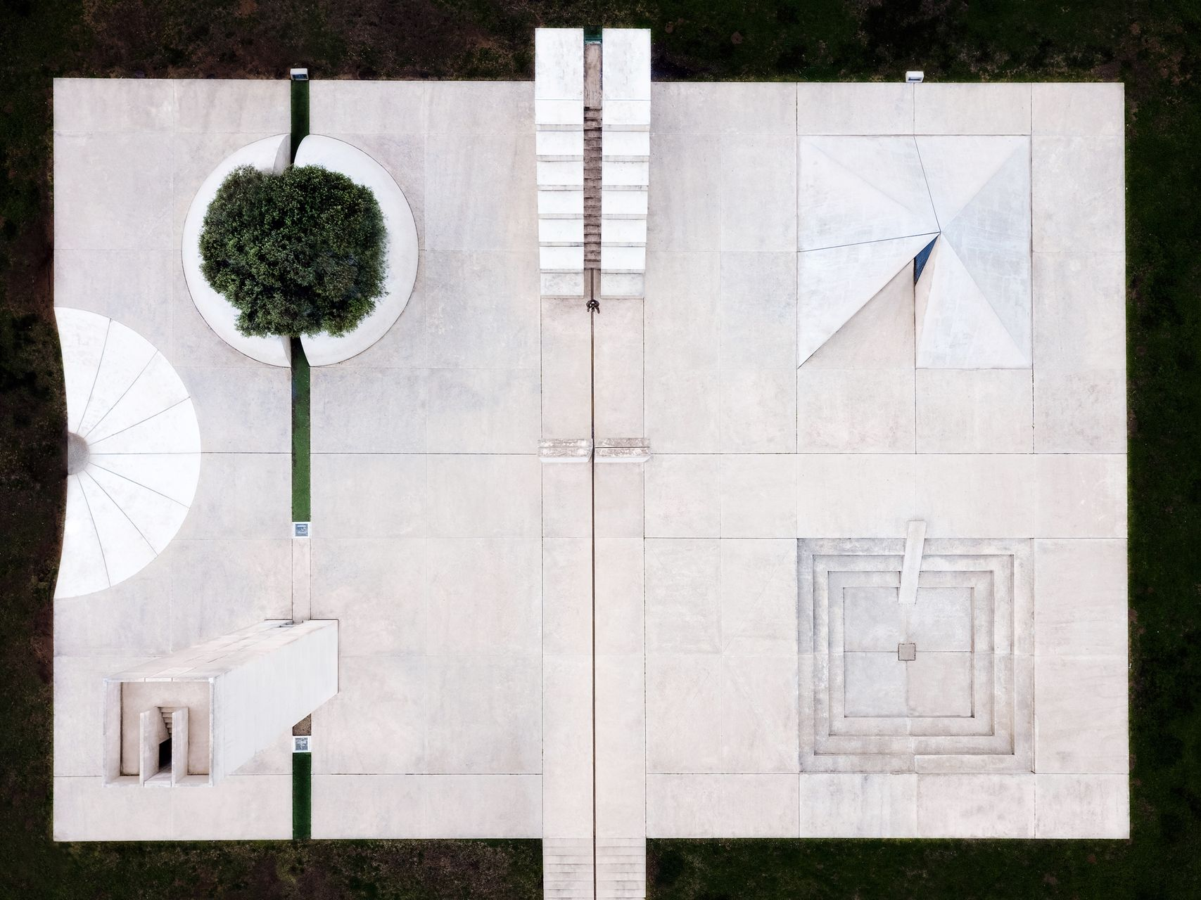 White Square minimalism white structures Architecture no people outdoors aerial view The Graphic City
