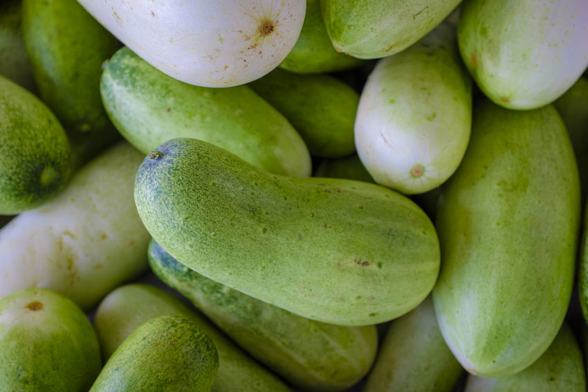 Bokeo Close-up Cucumber Day Food For Sale Freshness Green Color Laos Large Group Of Objects Market Market Stall
