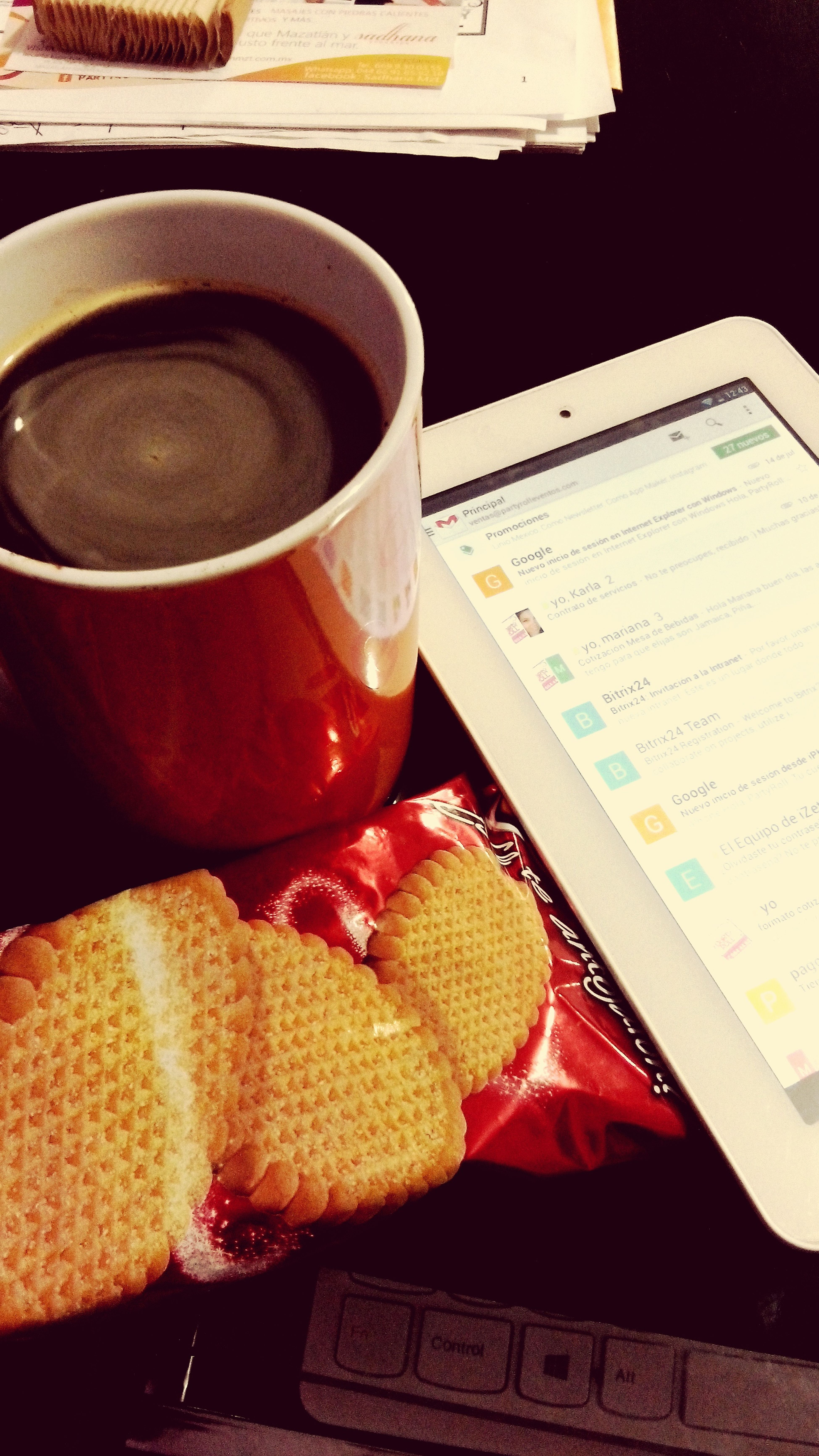 Its a good day to drink a cup of coffee while workin' Coffee Time Thoseonesarecookies Workingtime ILoveMyJob