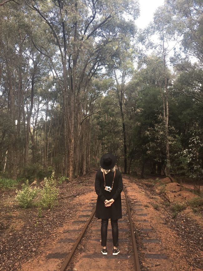 """The Culture Of The Holidays TheMinimals (less Edit Juxt Photography) Diminishing Perspective Vanishing Point Nature Tree Forest Shootermag Mermaid Full Length Shootermag_australia The Purist (no Edit, No Filter) """"if you go down to the woods today..."""""""