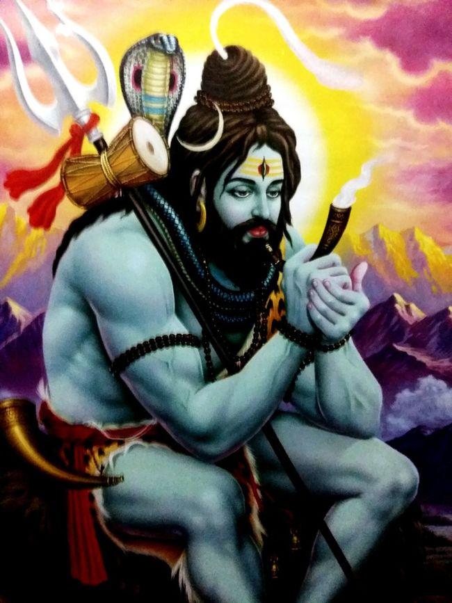 Weed Smoker Mahadeva blessingfromshiva.. Poster Wall