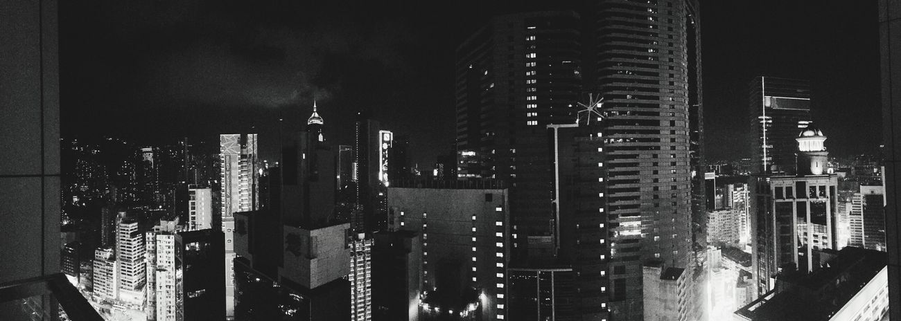Hongkong Island Skybar Buildings Blackandwhite Nightphotography Traveling
