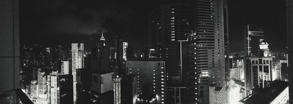 Hongkong Island Skybar Buildings Blackandwhite Nightphotography Traveling