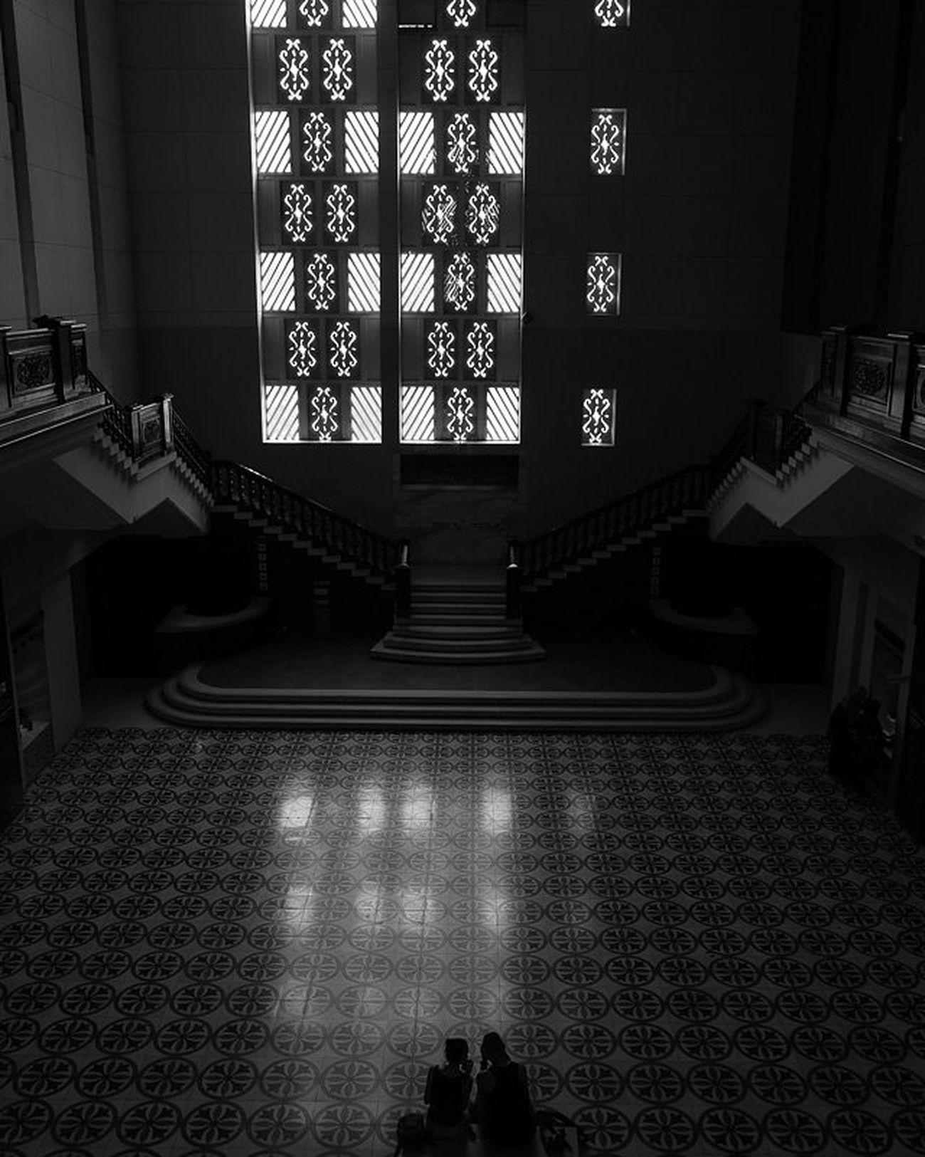 Interior of the Muzium Negara Latergram Lattice Shadow Muziumnegara Kualalumpur Malaysia Fujifilm Fuji Xe1