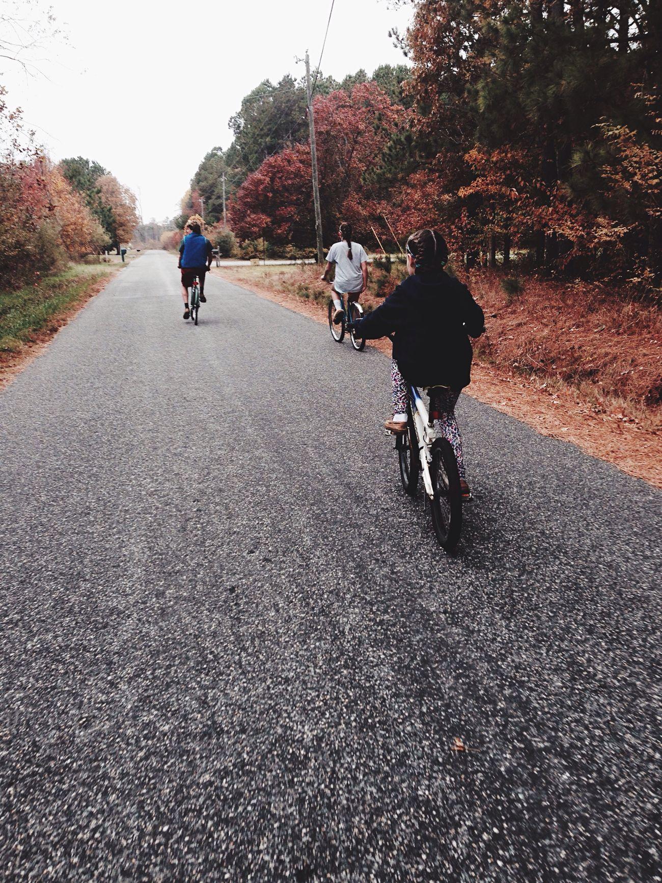 Morning bike ride Bicycle Cycling Riding Fall