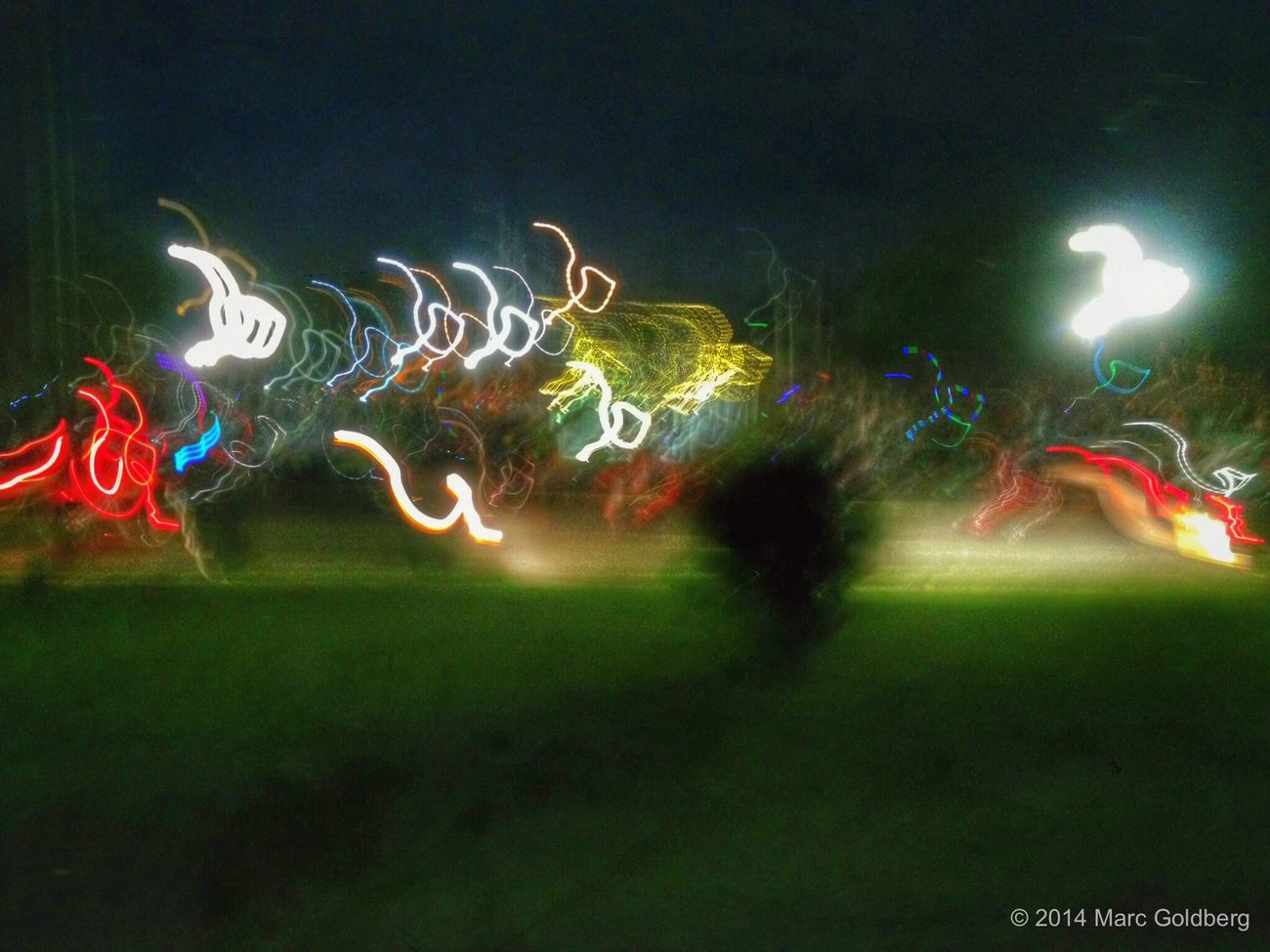 City of Sherrill Annual Concert and Fireworks Night, Reilly-Mumford Memorial Park Gazebo, Sherrill, New York, 7/26/14 Longexposure Keep It Blurry Light Neon