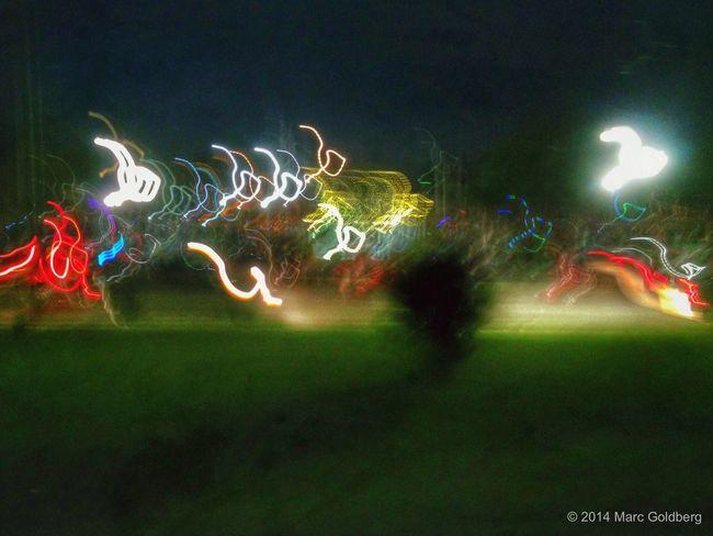 City of Sherrill Annual Concert and Fireworks Night, Reilly-Mumford Memorial Park Gazebo, Sherrill, New York, 7/26/14 Longexposure Keep It Blurry Light Neon