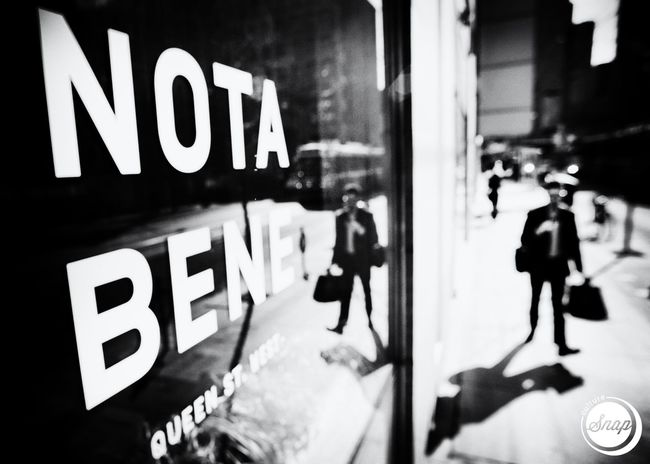 Nota Bene. Queen Street West, Toronto. Blackandwhite Black And White Photography Noir Et Blanc Film Noir Noir Toronto Ttc Streetcar Briefcase Streetphoto_bw Street Photography Toronto_insta The Street Photographer - 2016 EyeEm Awards