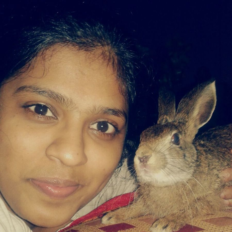 spending time a my luv its amazing...in every eve ..i think he too likes to take pic wit me My Rabbit So Addorable.....<3 Selfie ✌ Free Time