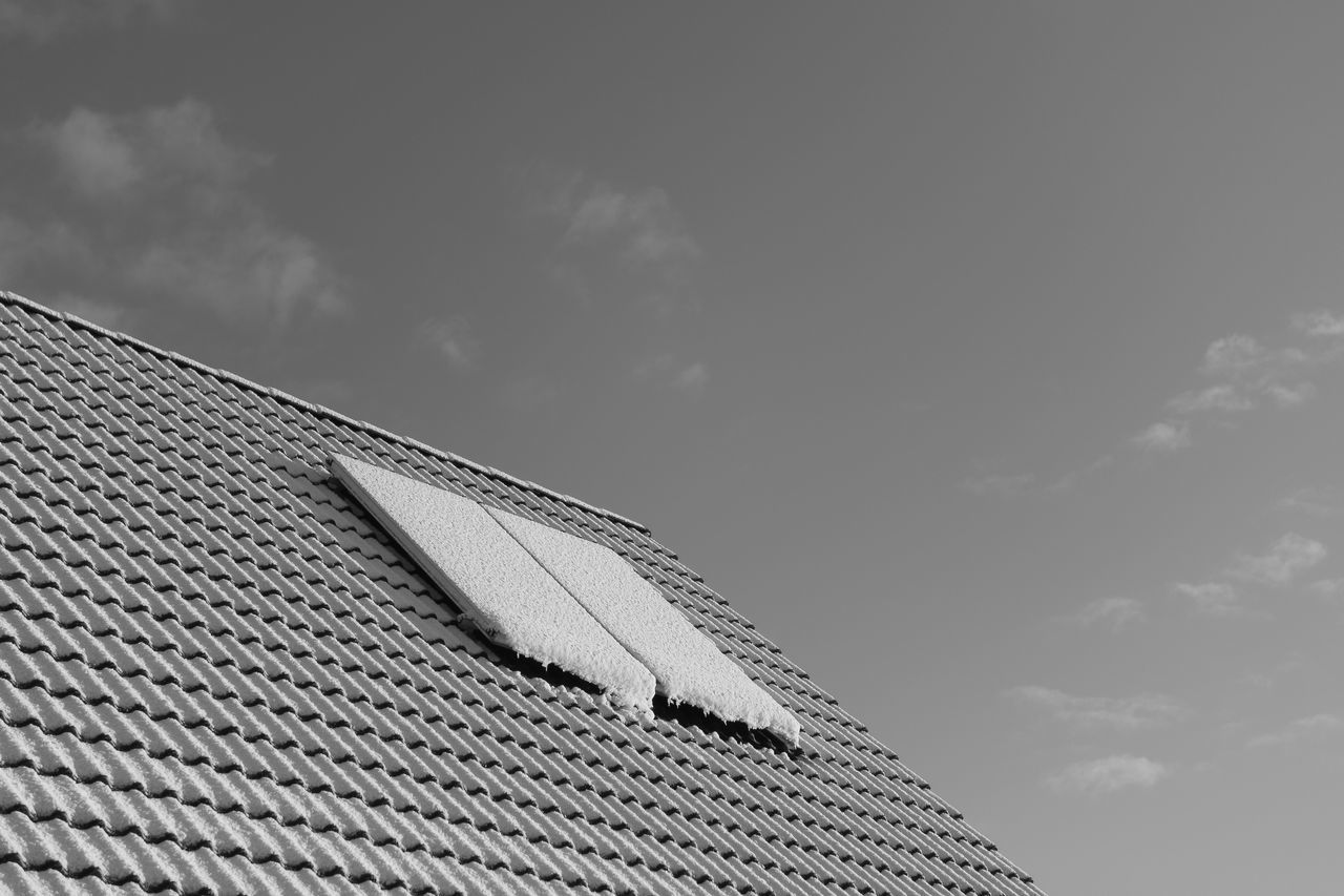 covered Architecture Blackandwhite Building Exterior Built Structure Cloud - Sky Cold Cold Temperature Day Futuristic House Low Angle View Monochrome No People Outdoors Roof Sky Snow Winter
