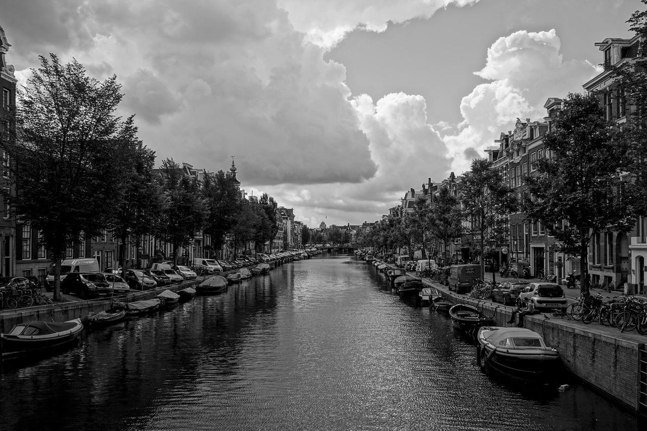 Amsterdam Canals Amsterdam Amsterdam Canal Amsterdamse Grachten Canal Holland Kanal Kanäle Netherlands Niederlande Sky Wasserweg Water Waterfront