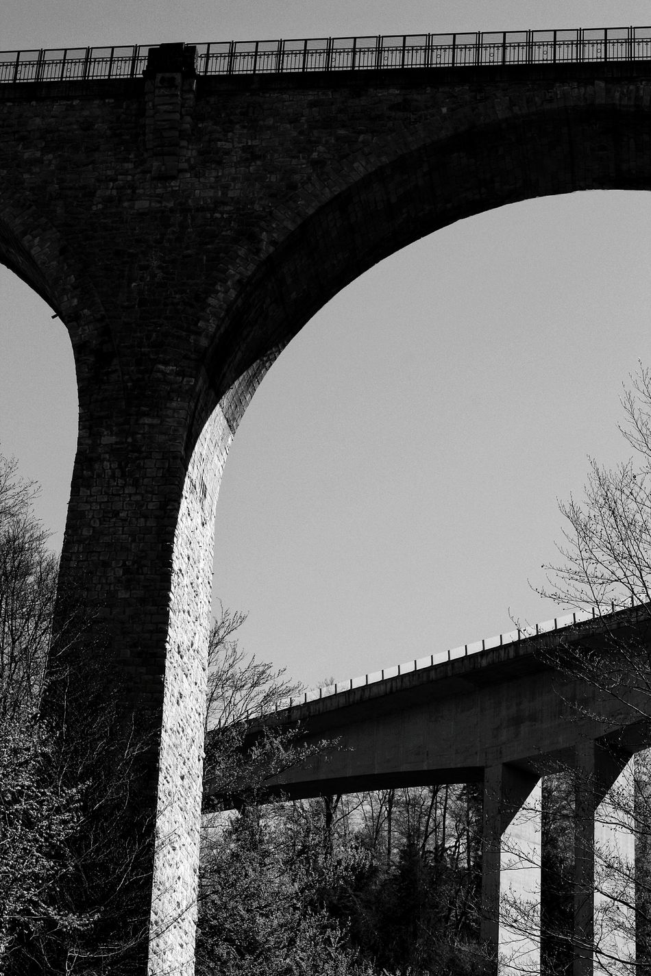 Architecture Arch Outdoors Photoshooting Photoshoot Blackandwhite Photography Shadow Blackandwhite Black And White Photography Bridge Contrast Black White Bridge - Man Made Structure Built Structure Day No People Sky
