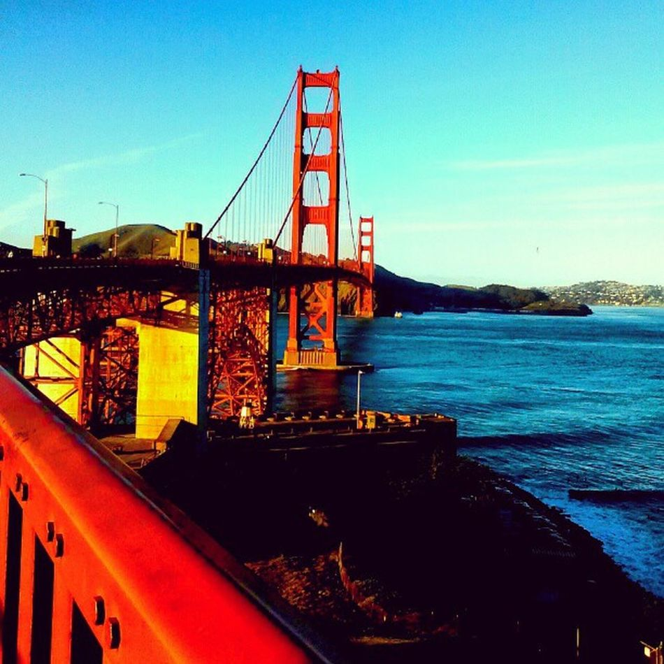 Walked it, yep I loved every Second of it!! Goldengate SF Sanfrancisco Love Walkingaround Walkedacrossthegoldengate Bridge Sky Ocean Ohman Enjoy Yep