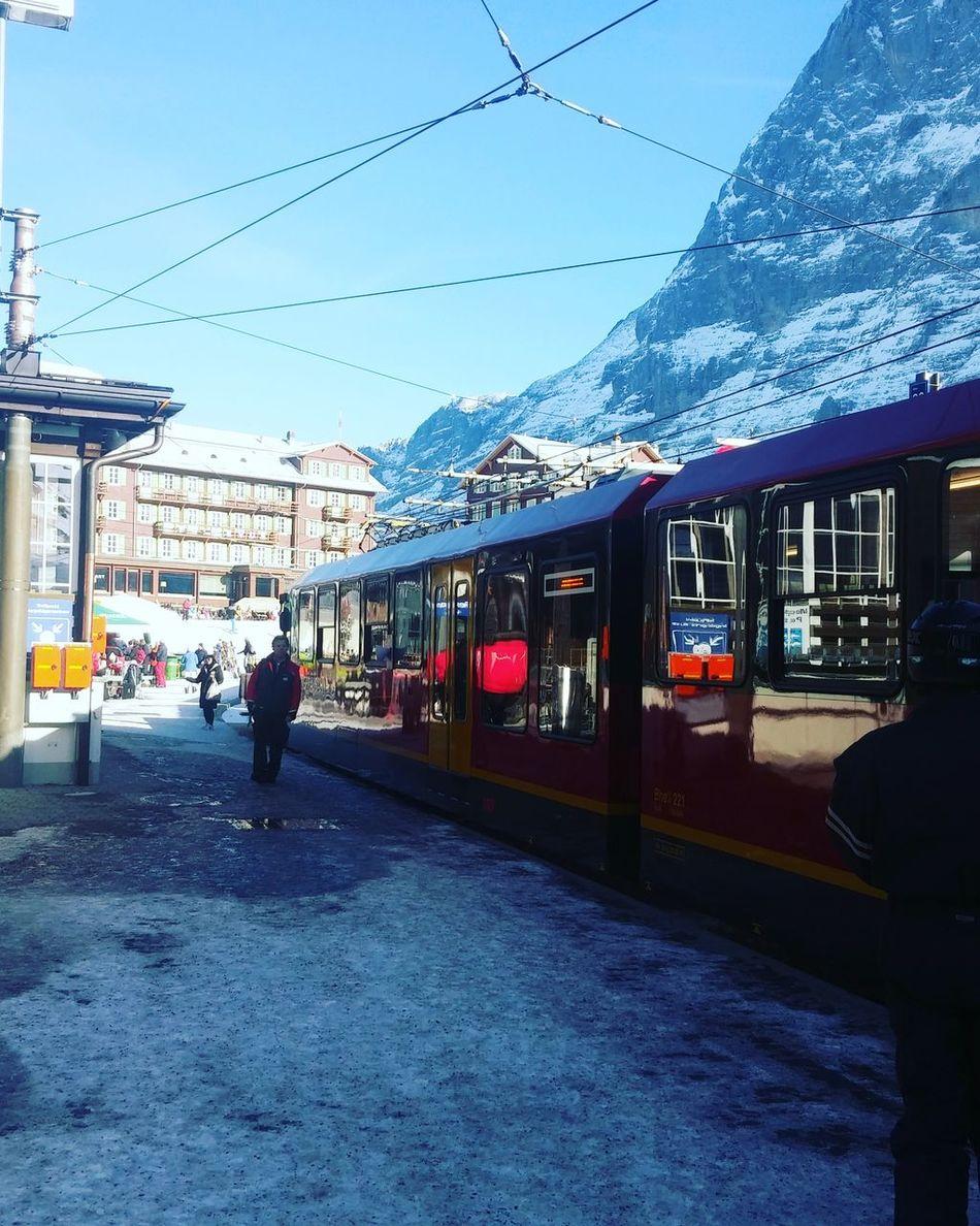 Train Europe 눈 Snow ❄ Lifephoto  Day Winter Jungfrau Mountain NorthFace Swiss