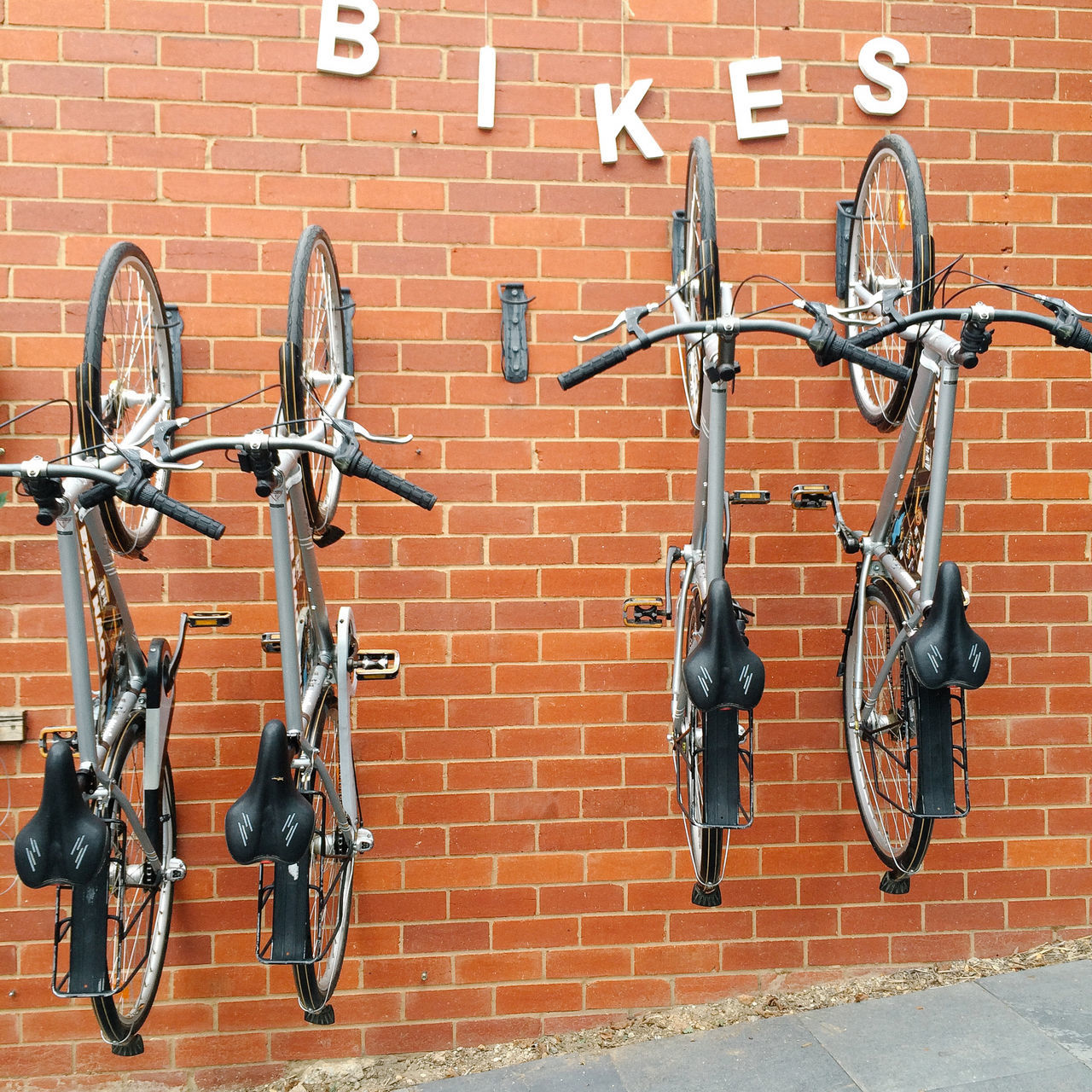 Beautiful stock photos of text, , Bicycle, Brick Wall, Day
