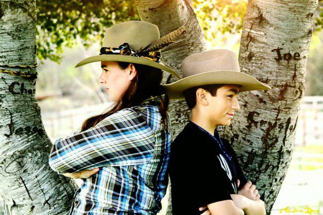 Two People Togetherness Mature Adult Friendship Mature Men Care Sunlight Rural Scene Beard Cowboy Hat Bonding Discovery People Men Outdoors Person Adult Adventure Horizontal Leisure Activity Cowboys Cowboy Hats  Family Mother Son Love