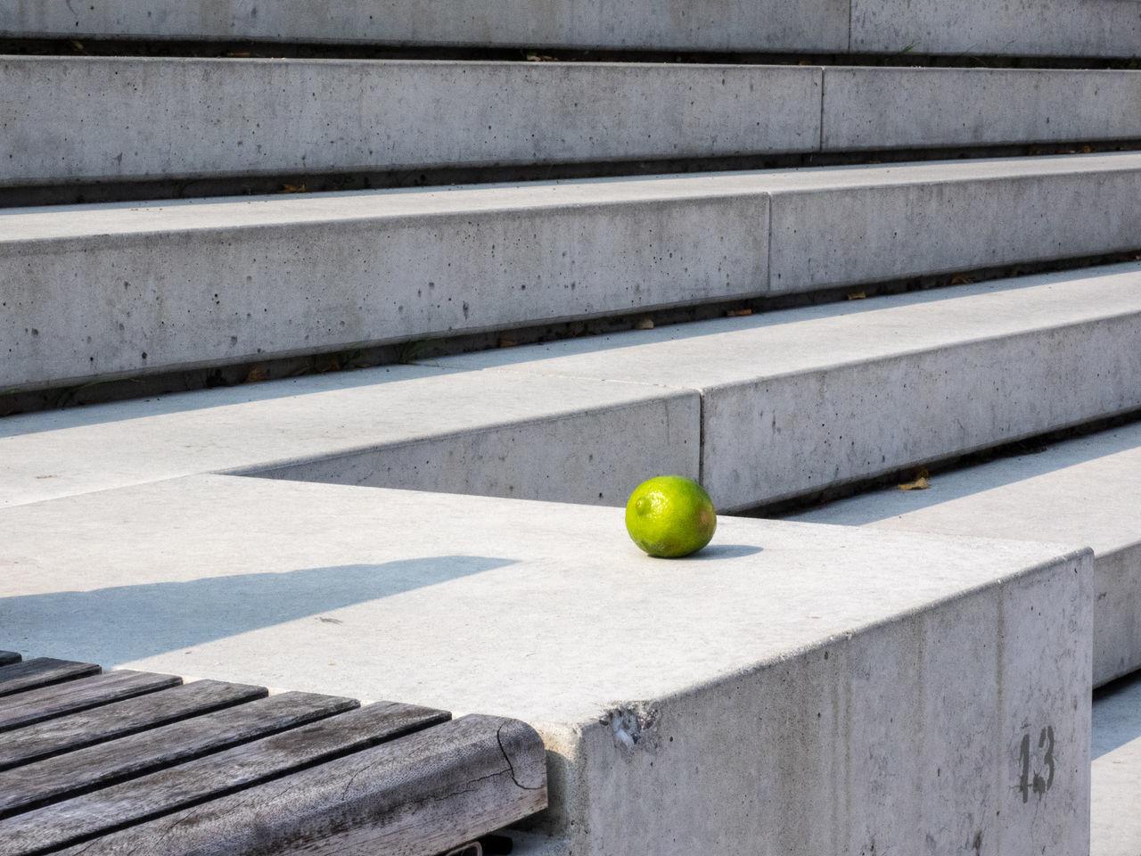 Color Concrete Green Grey Lemon Steps Sun