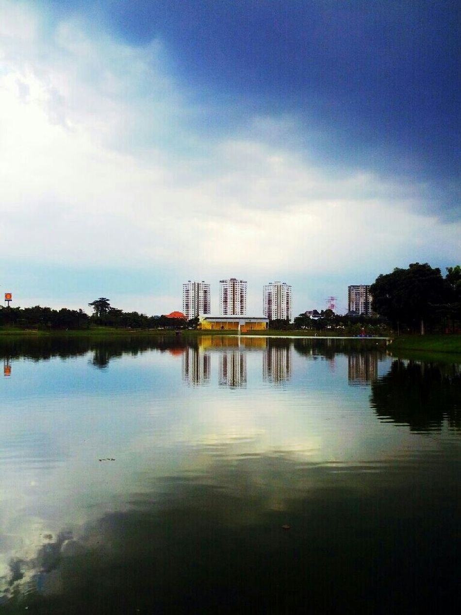 Reflection Water Nature Sky Clouds And Sky Kuala Lumpur Skyporn #sunset #sun #clouds #skylovers #sky #nature #beautifulinnature #naturalbeauty #photography #landscape Water Reflections Nature_collection