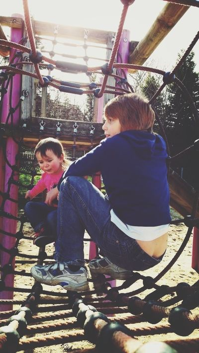 Kids Playground Climbing Beautiful Day Capture The Moment
