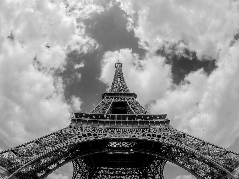 Beautiful stock photos of eiffel tower, Architecture, Built Structure, Cloud, Cloudy