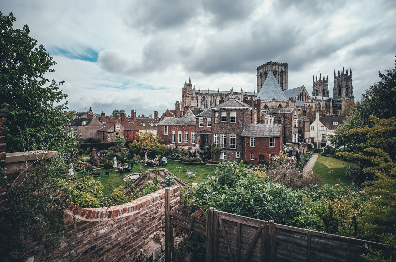 View from the City Wall Architecture Built Structure City Cloud - Sky Landscape Nature Outdoors Scenery Scenics Spring The Great Outdoors - 2017 EyeEm Awards Tree Uk York York Minster