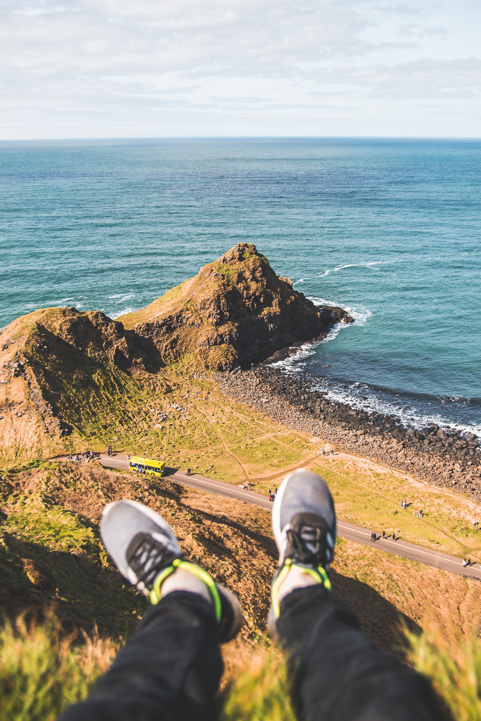 Adrenaline Junkie Beach Beauty In Nature Cliff Cliffs Day Horizon Over Water Human Body Part Human Leg Leisure Activity Low Section Men Nature One Person Outdoors Personal Perspective Real People Rock - Object Scenics Sea Sky Standing Tranquil Scene Tranquility Water