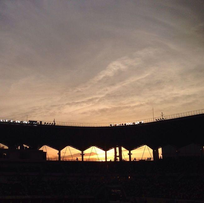 Sunset JefunitedChiba Soccor IPhone Photography Today. Japanese soccor. ( ´ ▽ ` )ノ