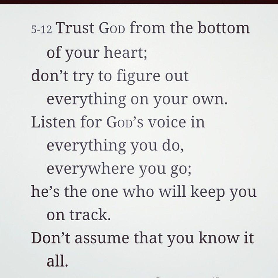 Proverbs 3 MessageBible
