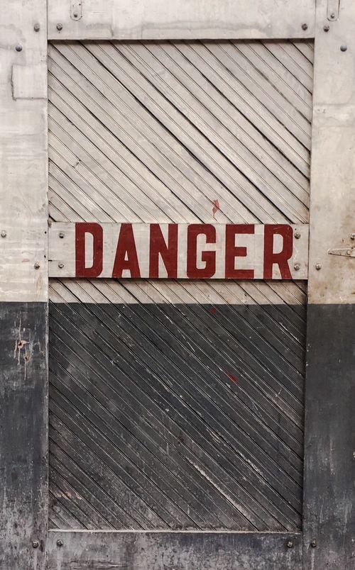 Door Art Vintage Weathered Signs Barn Door industrial