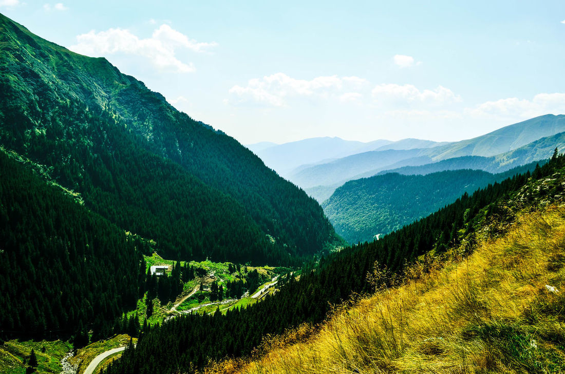 Romania Agriculture Day Green Color Hill Idyllic Landscape Mountain Mountain Range Mountains Nature No People Sky Tranquil Scene