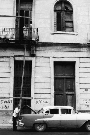El Yuva Analogue Photography Architecture B&w Street Photography Blackandwhite Chevrolet Cuba Cuban Cars Fachade Outdoors Street Street Photography Streetphotography