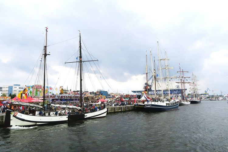 Hansesail in Warnemuende and Rostock 2016. Sailing boats from all over world meeting here for that yearly event. Boat Day HanseSail Hansesail 2016 Harbor Harbor Harbor View Mast Mode Of Transport Nautical Vessel Outdoors Rostock Rostock 2016 Rostocker Hafen Rostocker Stadthafen Sailing Sailing Boat Sailing Boats Sailing Ship Sky Water