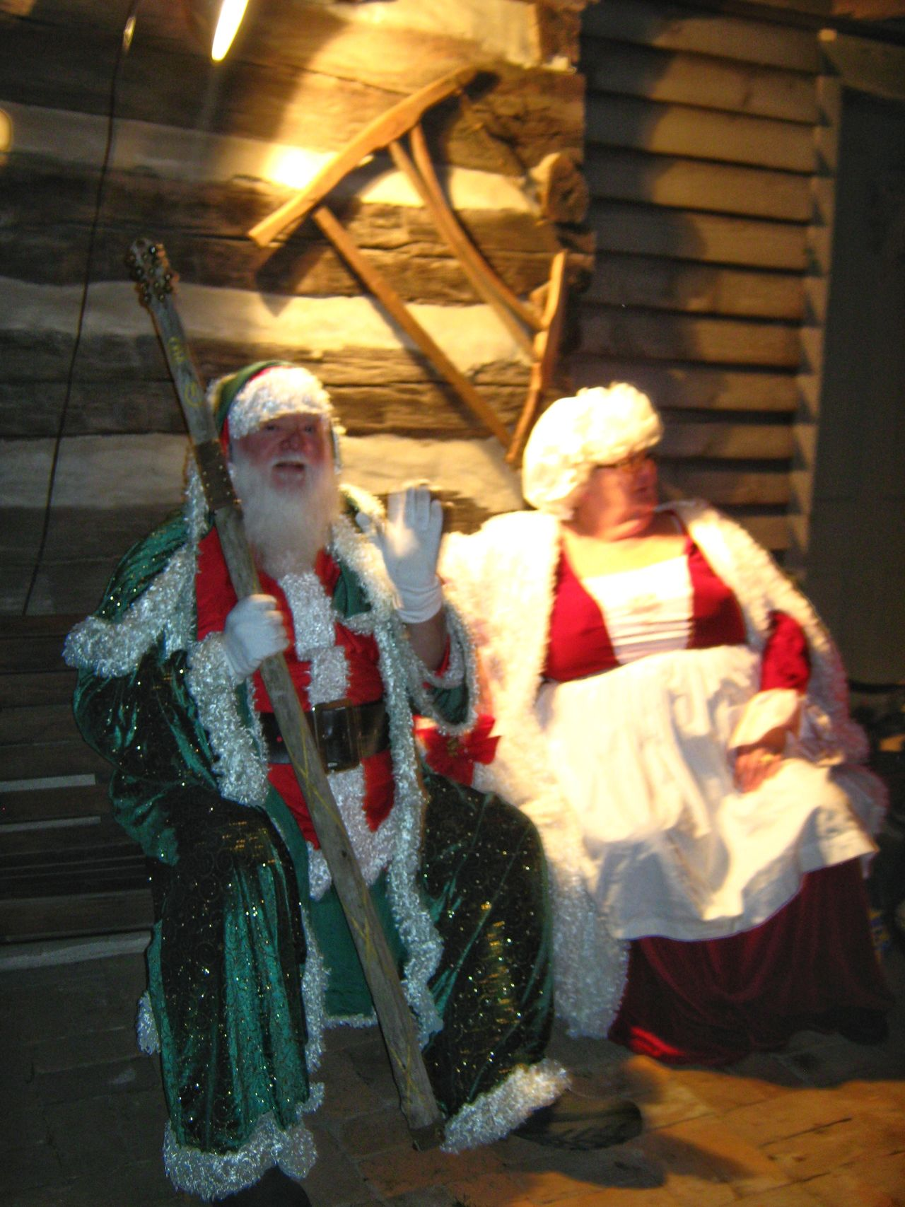 Finding New Frontiers Mr. & Mrs. Clause! Merry Christmas! Holiday - Event Period Costume Christmas Christmas Tradition Christmas Spirit Christmas 2016 Christmas Around The World Log Cabin Antique Architecture Antique Building ANTIQUE TOOLS.... Christmas Party Santa Claus Saint Nicholas Mrs Clause