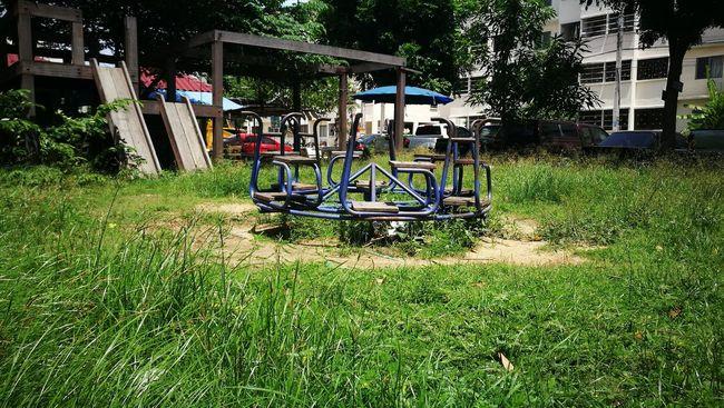 Samutprakan Thailand Grass Playground Playgrounds Blue Color Green