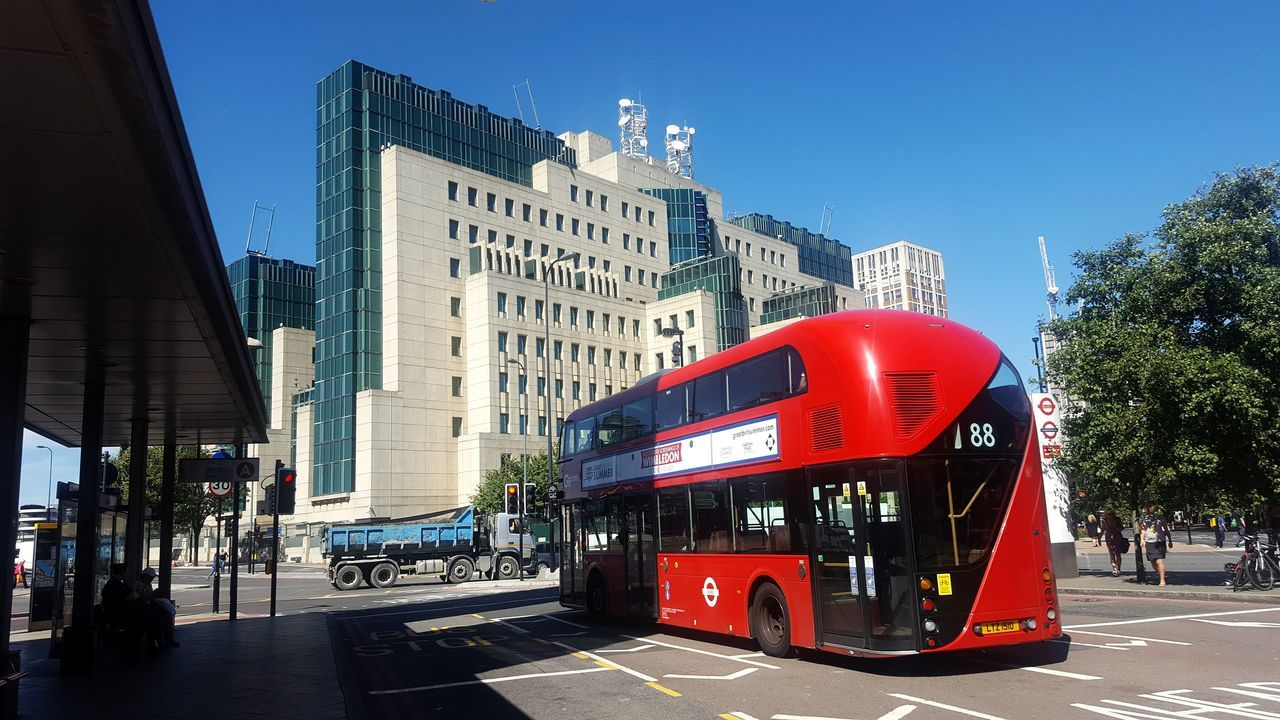 London Londonbus Mi6 Vauxhall First Eyeem Photo