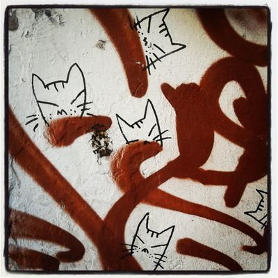 Arte callejero en Copenhague.