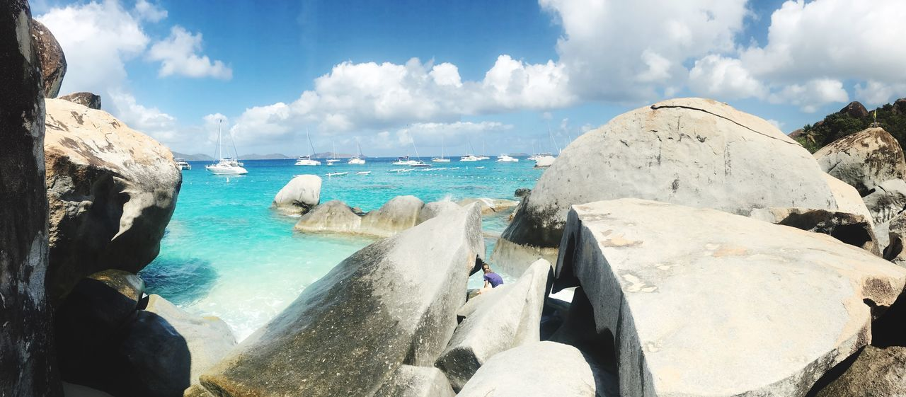 The rocks at the Baths, on Virgin Gorda. Sea Nature Tranquil Scene Beach Vacation Destination Tropical British Virgin Islands Bvi Virgin Gorda Baths Virgin Gorda Baths Rocks Tortola