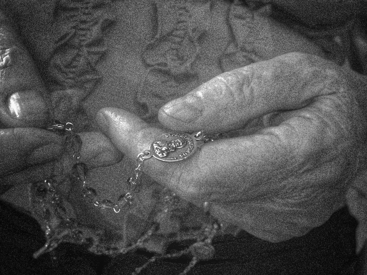 Black And White Photography Catholic Close-up Day Detail Hands Holding Rosary Be Lifestyles Nature Old Buildings Part Of Praying Religious  Rosary Beads