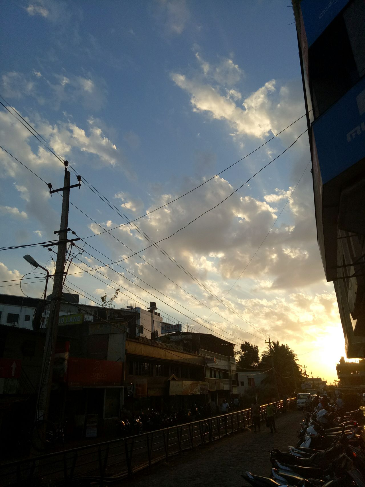 The sunset. Sky Cloud - Sky Sunset Outdoors Building Exterior Day Nature