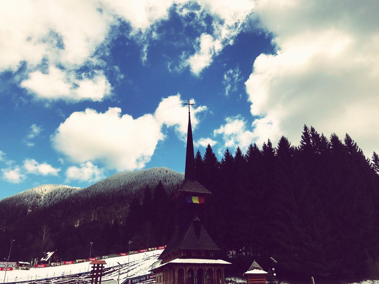 Church mountain Cloud - Sky Religion