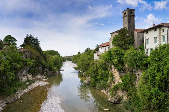A great view from a bridge showing the Italian landscape Ancient Architecture Architecture Bridge View Cividale Cividale Del Friuli Clouds Day House Italia Italy Landscape Nature No People Outdoor Photography Outdoors River Riverside Scenics Sky Sky And Clouds Sunny Day Travelling Trees Vacation Water First Eyeem Photo