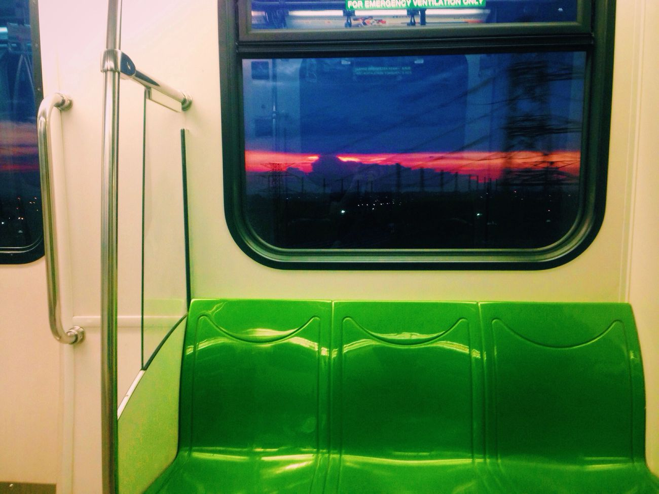 Transportation Window Illuminated Modern No People Outdoors Day Evening Evening Sky Dusk Evening Light Sunset Train Subway Sky Sky Colors From The Window Traveling Home For The Holidays