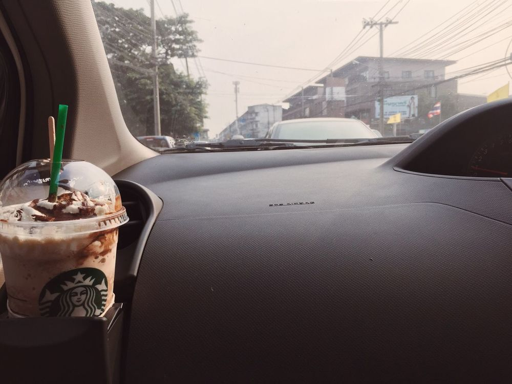Coffee Starbucks VSCO Cam On The Road On The Way Coffee Time Holiday Thailand Nonthaburi Starbucks Coffee