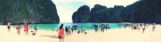 Beach Landscape Panorama Thailand Phi Phi Island