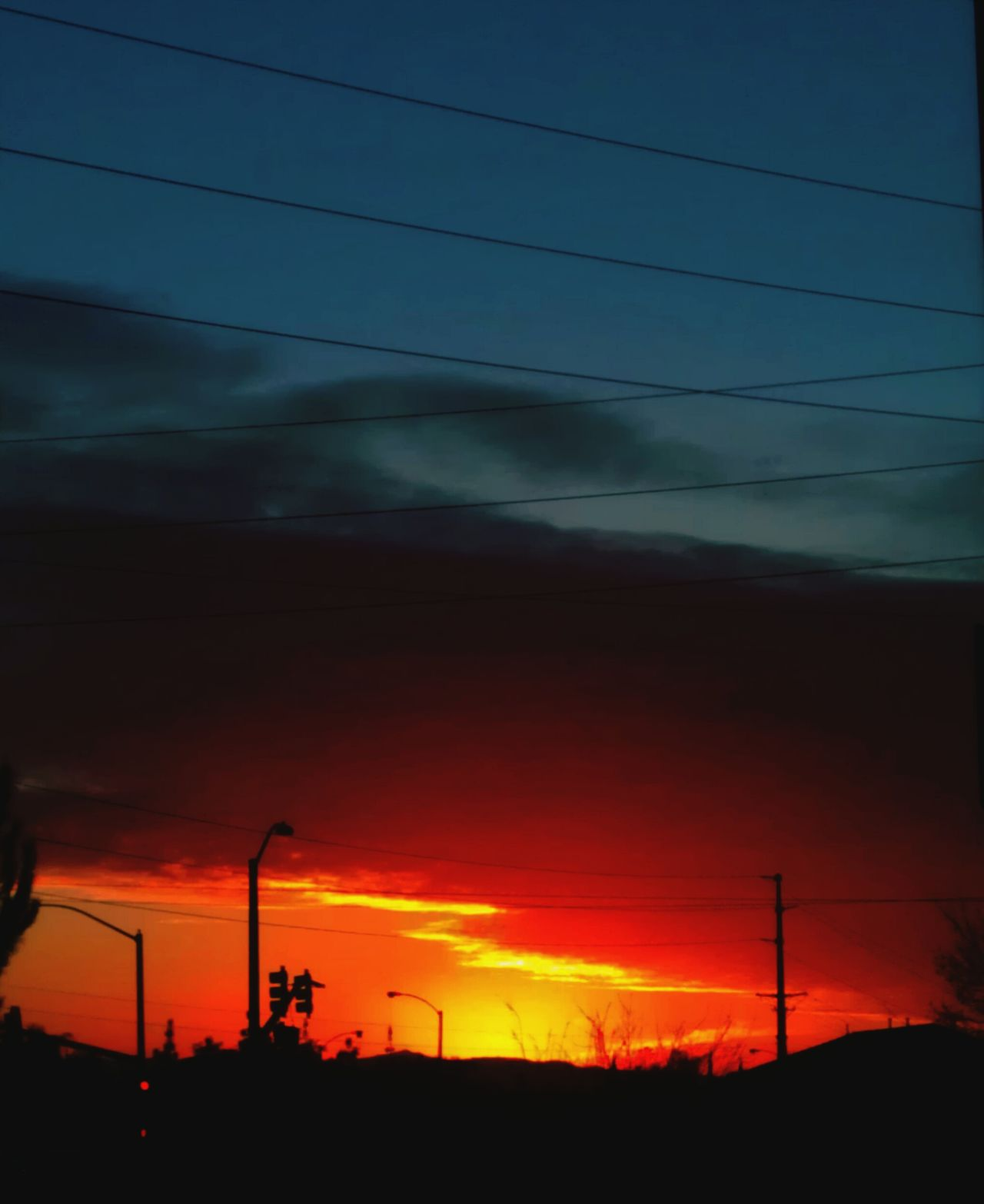 Taking Photos Enjoying Life Riverside California End Of The Day Beautiful Nature Scattered Clouds Clouds Colorful Sunset Sky And Clouds Orange Color Sunset Red Color Nature Outdoors Sky No People, Color Photography Partial Blue Sky Silhouettes Ice Age