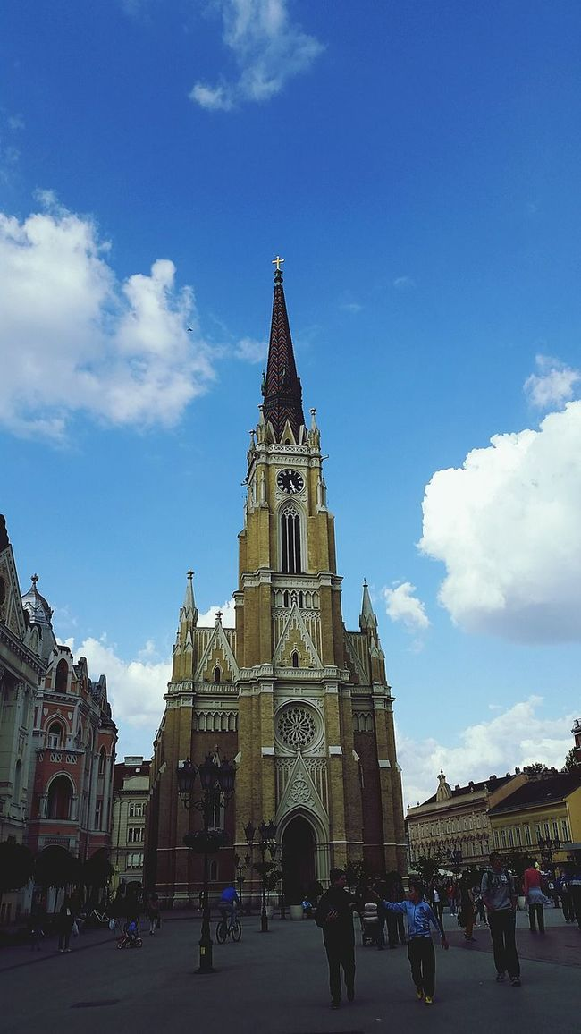 Novi Sad Katedrala Katedrale Serbia Enjoy Life Friendship Enjoyment Enjoying The View Winter 2016 Relaxing Love ♥ Blu Blue Sky Sky And Clouds People People Watching People Photography Beauty Nails Drinks Summer ☀ Live Lovely Lovelovelove
