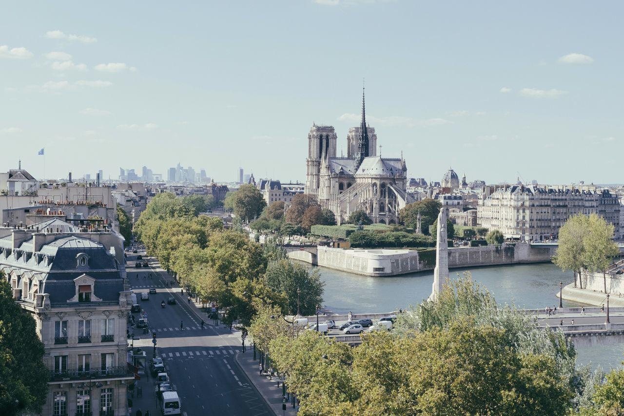 Notre Dame De Paris Seine Cityscape Nikon D750 Toits De Paris