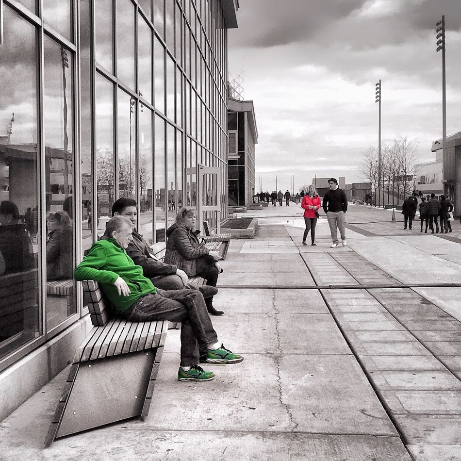 Chicago Navy Pier #Chicago #iPhone #Iphoneography #JohnGoldenne Adult Architecture Building Exterior Built Structure City Day Edited Friendship Lifestyles Men Outdoors People Real People Sitting Sky