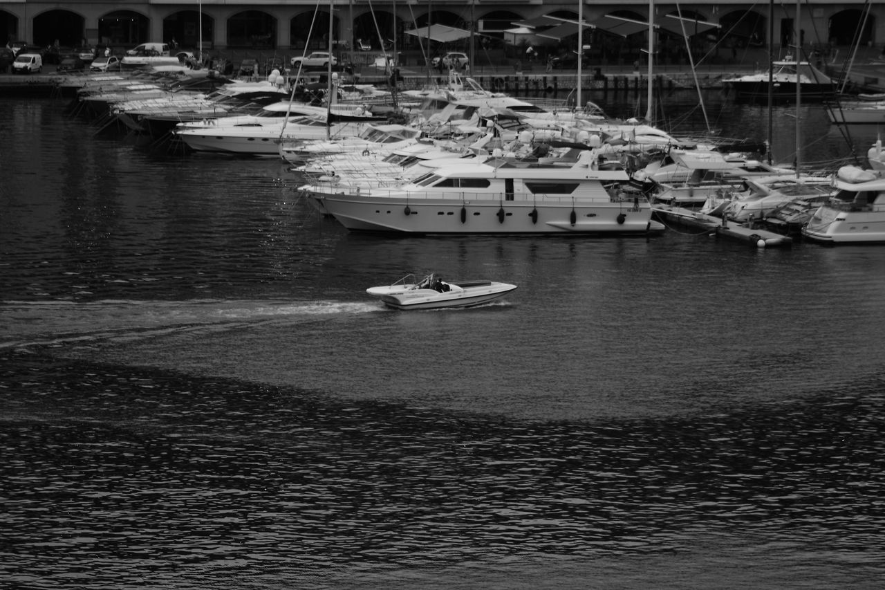Architecture Boat Day Harbor Mode Of Transport Monaco Moored Nautical Vessel No People Outdoors Port Monaco Sailboat Sailing Sea Speedboat Transportation Water Yacht Yachting
