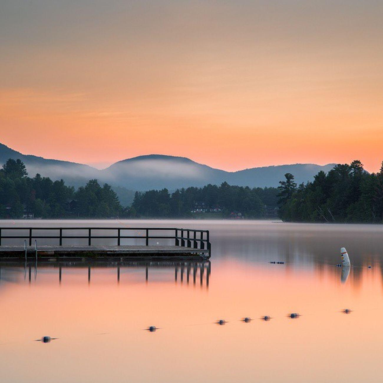 Monday Morning Sunrise on Mirror Lake Lakeplacid Landscape Sunrise ADK Photooftheday POTD Longexposure